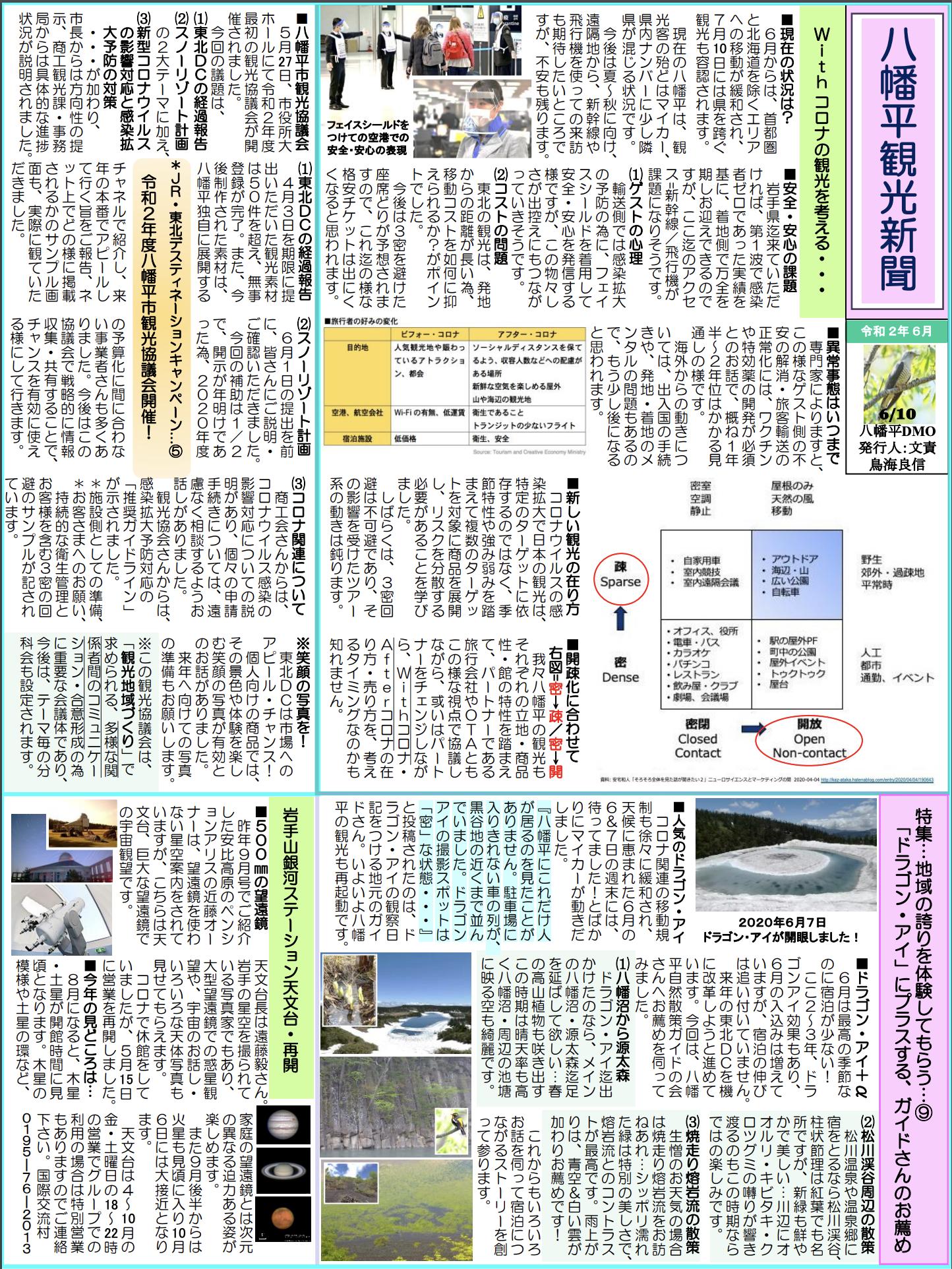 観光新聞2020年6月号発行しました